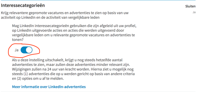 LinkedIn Ads Interesses